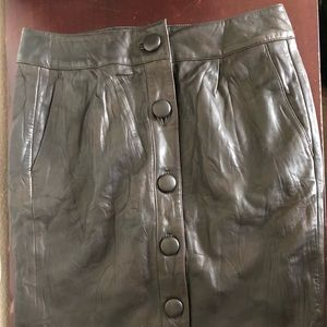 Joe's Leather Skirt